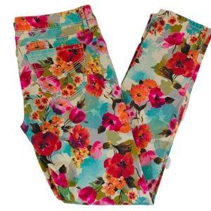 Aeropostale Floral Pattern Vitra Skinny Jeans